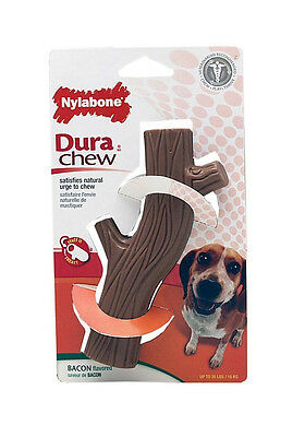 Nylabone Dura Chew Bacon Hollow Stick Wolf Toy Up To 35 Lbs 16 Kg Free Ship Usa