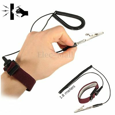 Anti Static ESD Adjustable Wrist Strap Discharge Band Ground Bracelet electronic