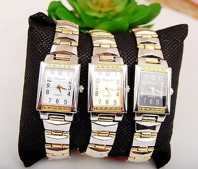 Fashion 6 pcs Woman Girl Lady Square dail casual Steel wrist Watches USK34