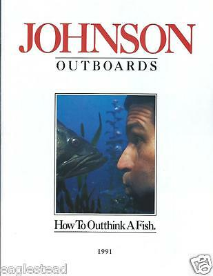 Boat Motor Brochure - Johnson - Product Line Overview - Outboards - 1991 (SH82)