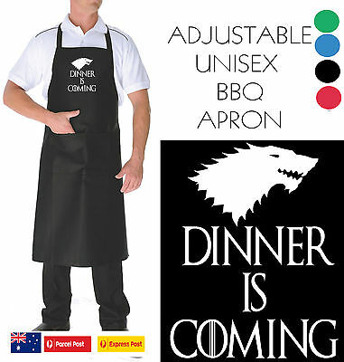 Funny Apron Bar Bbq Kitchen Unisex Dinner is Coming Game of Thrones Hobo T-Shirt