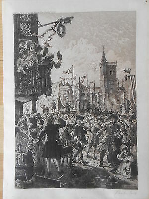Charles Bird Bristol : St. James Fair 1780 Radierung von 1896 Frost and Reed