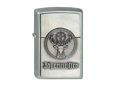 "ZIPPO ""JäGERMEISTER"" SATIN 3D EMBLEM TRICK LIGHTER / 1900776 ** NEW IN BOX **"