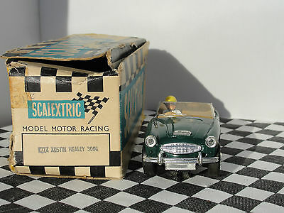 Scalextric Austin Healey 3000 #18  1960,s   1.32  Used Boxed