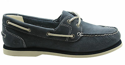 Timberland Earthkeepers Classic Womens Boat Unlined Shoe Navy Blue 3937R B2E