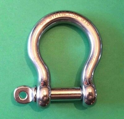 "19mm Stainless Steel 316 Bow Shackle 3//4/"" Marine Grade"