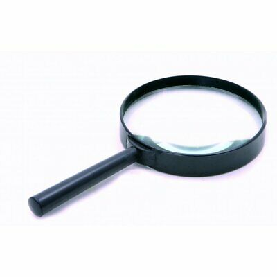 """Rolson 100mm (4"""") Hand Held Magnifying Glass Large Magnifier 3X Glass Lens"""