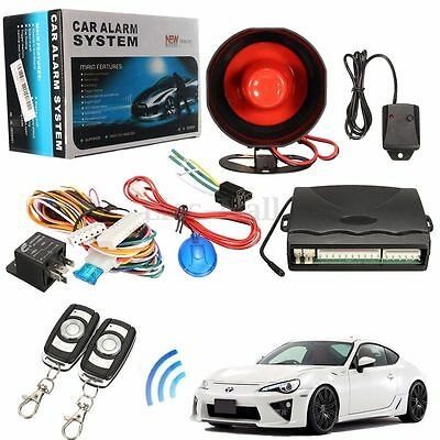 1-Way Car Vehicle Alarm Protection Security System Keyless Siren 2 Remote Start