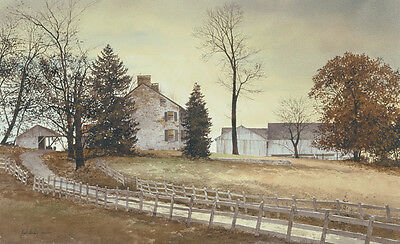 FARM LANDSCAPE ART PRINT - Late October by Ray Hendershot Country Poster 36x26