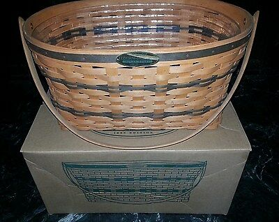 1995 Longaberger Traditions Collection Basket 1st Series Original Box Green