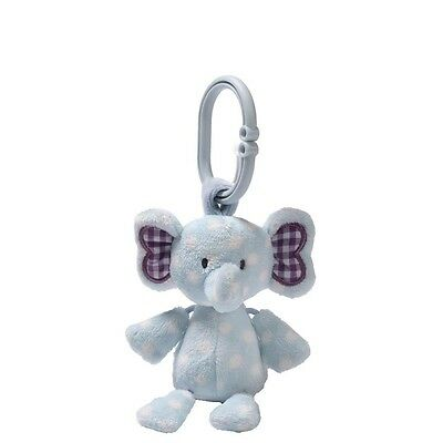 Gund Elephant Stripes & Dots Evert Activity Toy with cot / pram / car seat clip