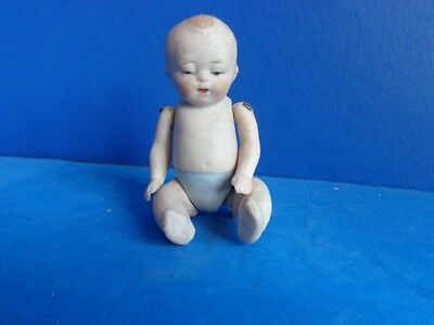 """Antique 4"""" All Bisque Nippon Baby Doll"""