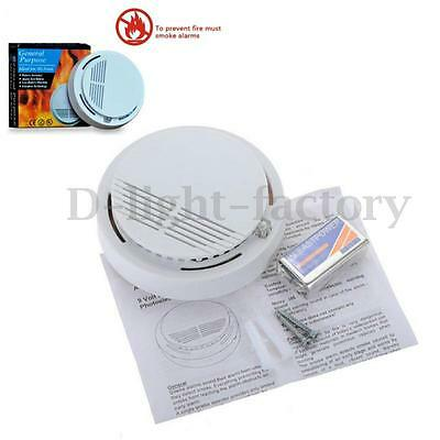 Standalone Photoelectric Smoke Alarm Fire Detector Sensor System Home Security N