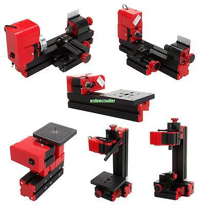 Mini 6in1 Tool Kit Jig-saw/Drilling/Sanding/Milling Machine Wood-turning Lathe