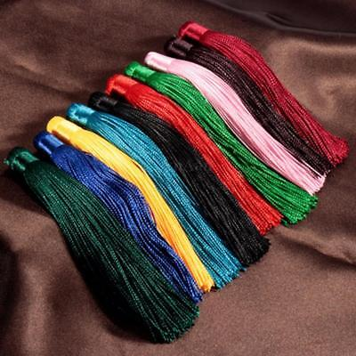10x Silky Cotton Tassels 12cm Curtains Cushion Crafts Card DIY Home Car Decor