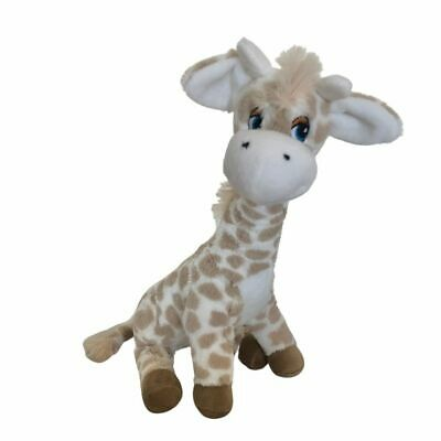 "GIRAFFE baby safe BROWN soft plush toy 13""/33cm TEDDY & FRIENDS - NEW"