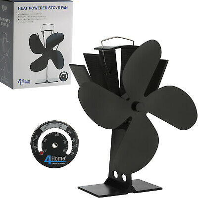 2017 New Design Eco Friendly Heat Powered Wood Burning Mini Stove Top Fan Black