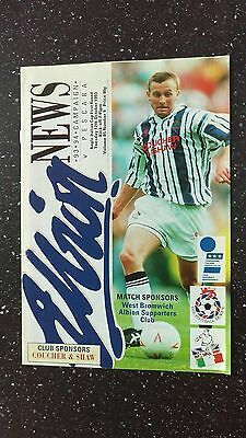 West Bromwich Albion V Pescara 1993-94