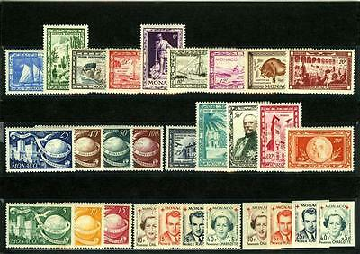 1949 MONACO ANNEE COMPLETE TIMBRES POSTE  + PA xx