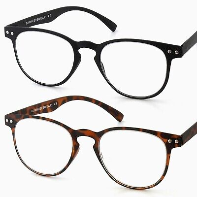 Ultra THIN & LIGHT TR90 Retro/Vintage Large Lens READING GLASSES +1.50+2+2.5+3.0