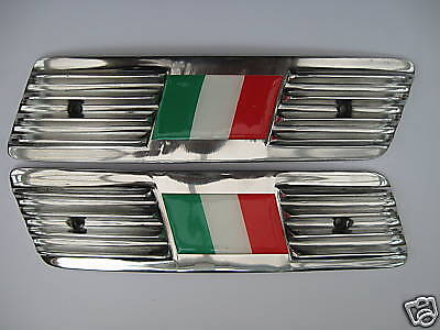 Lambretta Gp Italian Flag Alloy Side Panel Grills-  Brand New