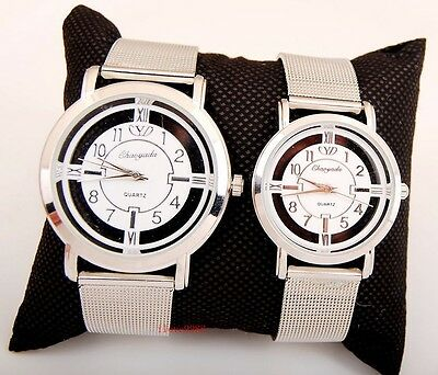 6 pcs new Charming Woman Girl Lady White dail casual Steel wrist Watches USK36