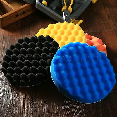 "4x 7"" Inch Car Buffing Pads Polishing Sponge Foam Polisher Buffer Polishing Pads"