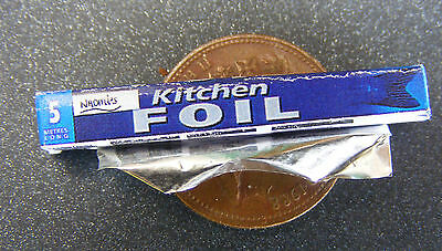 1:12 Scale Open Tin Foil Packet Dolls House Miniature Kitchen Food Accessory