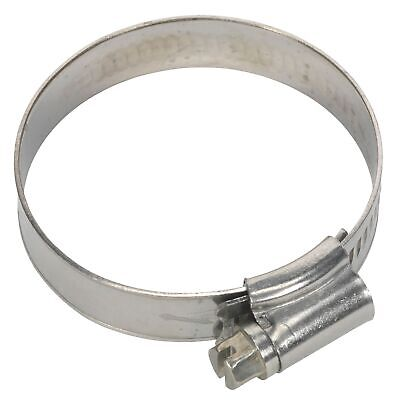 Sealey Race / Rally Pack Of 10 Stainless Steel Hose Clips - 35-51mm