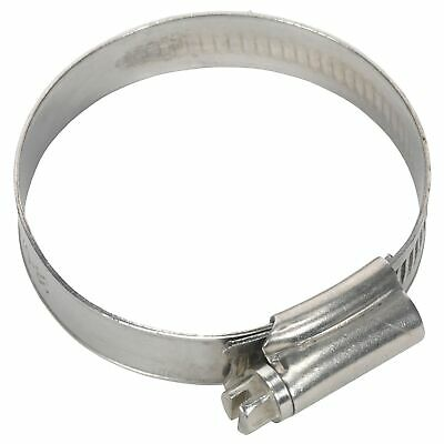 Sealey Race / Rally Pack Of 10 Stainless Steel Hose Clips - 38-57mm