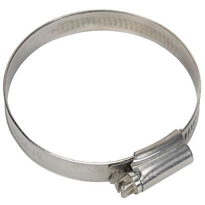 Sealey Race / Rally Pack Of 10 Stainless Steel Hose Clips - 51-70mm