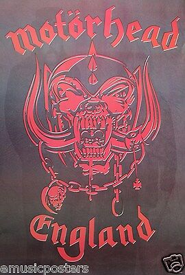"MOTORHEAD ""ENGLAND LOGO"" POSTER FROM ASIA - Speed Metal Music"