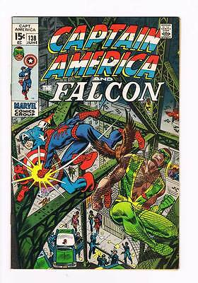 Captain America # 138 It Happens in Harlem ! Spider-Man x-over 8.5 scarce book !
