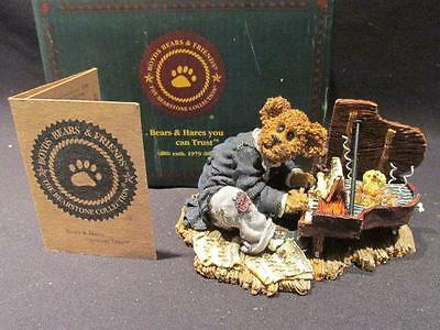 Chopsticks Bearthoven Tickle the Ivories #27754 Boyds Bearstone 2000 COA & Box