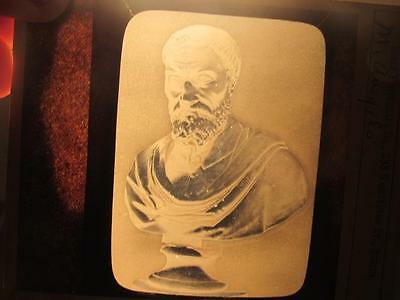Michelangelo Bust  Antique Magic Lantern Slide Soule Photograph Co Boston
