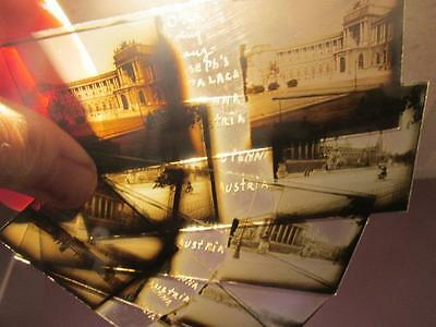 Vienna Austria Vintage Set of 4 Double-Image Glass Slides Franz Joseph's Palace