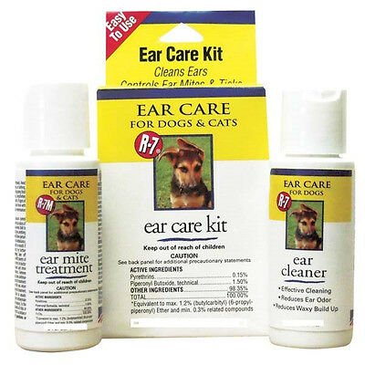 Rich Health R7 Ear Mite Treatment Kit With Cleaner Gimborn. Free Ship To The Usa