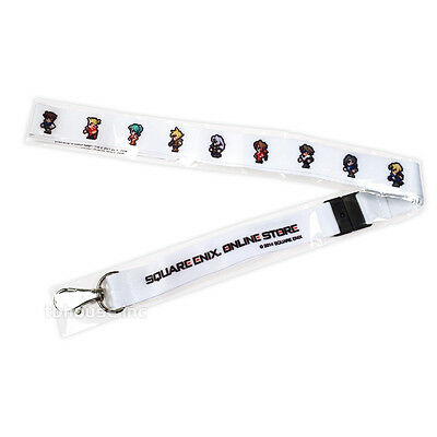 FINAL FANTASY limited edition RETRO 8 16-BIT WHITE LANYARD exclusive SQUARE-ENIX