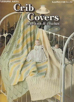 Leisure Arts Crib Covers to Knit and Crochet afghan pattern book 1978 - DW