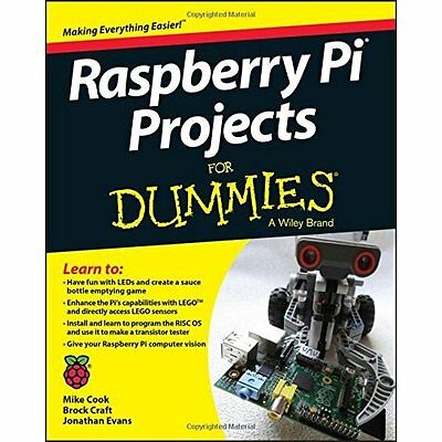 Raspberry Pi Projects For Dummies - Paperback NEW Mike Cook(Autho 2015-09-11