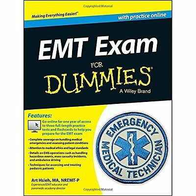 EMT Exam For Dummies with Online Practice - Paperback NEW Arthur Hsieh(Au 2014-0