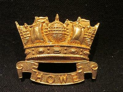 British Navy Remake Cap Badge 6th Howe Battalian RND Very Nice Copy