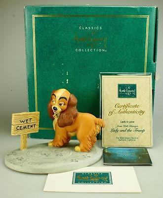 """Disney WDCC LADY & THE TRAMP Figurine """"LADY IN LOVE"""" with Box Cert Authenticity"""