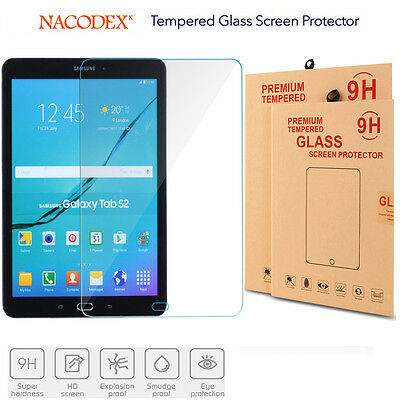 """HD Clear Tempered Glass Screen Protector For Samsung Galaxy Tab S2 9.7/"""" SM-T817A"""