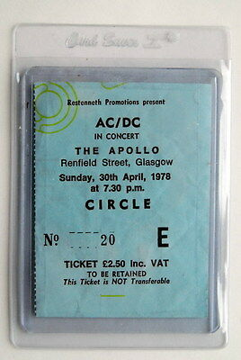 Ac/dc Mega Rare Ticket 30/4/1978 Concert Recorded For If You Want Blood Album