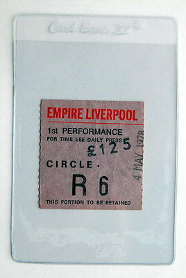 Ac/dc Very Rare Ticket 4Th May 1978  Empire Liverpool Powerage Uk Tour Bon Scott