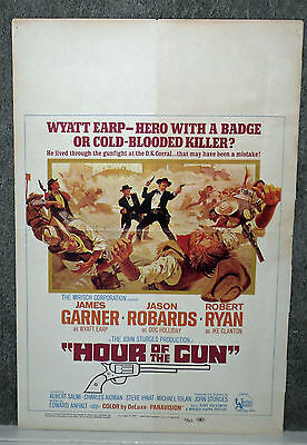 HOUR OF THE GUN original 1967 movie poster JAMES GARNER/WYATT EARP