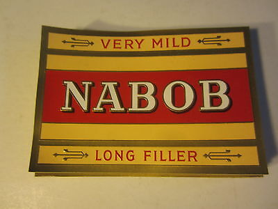 Wholesale Lot of 100 Original Old Antique - NABOB - CIGAR LABELS
