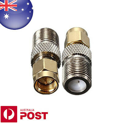 Alloy F Female Jack To SMA Male Plug RF Coaxial Adapter Connector  AUSPOST Z537