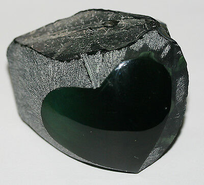 Top Golden Rainbow Obsidian Specimen Heart Piece Roung  And Polished